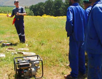 Fire Training at the Groenlandberg Conservancy